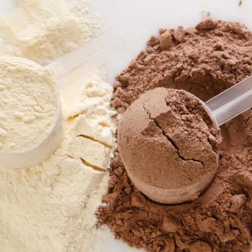 Protein powders, meal shakes and diet foods
